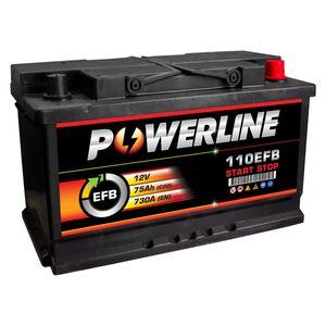 110 EFB Powerline Start Stop Car Battery 75Ah