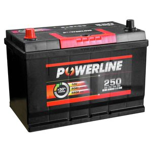 250 Powerline Car Battery 12V