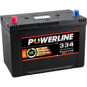 334 Powerline Car Battery 12V