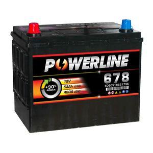 Batterie Décharge Lente 678 - Batterie Powerline Décharge Lente Caravanes Bateaux