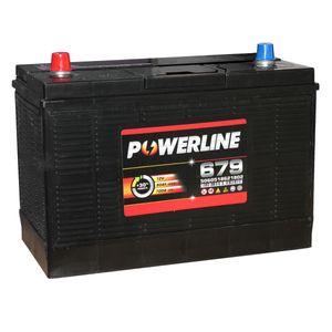 Batterie Décharge Lente 679 - Batterie Powerline Décharge Lente Caravanes Bateaux