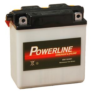 6N11A-3A Powerline Motorcycle Battery 6V 10Ah 6N11A3A