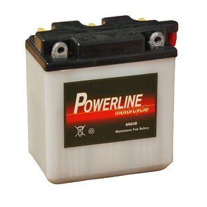 6N6-3B Powerline Batterie De Moto 6V 5Ah 6N63B