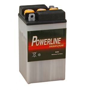 B49-6 Powerline Batterie De Moto 6V 8Ah B496