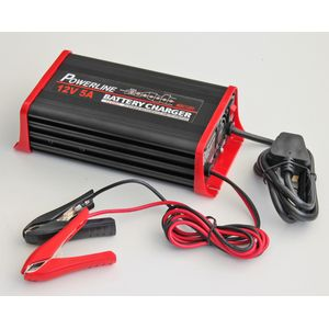 12V 5A Powerline 7 Stage Automatic Battery Charger - 5 Amp