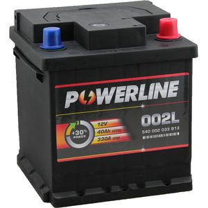 002L / 202 Powerline Car Battery 12V 40Ah