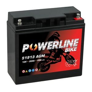 51913 BMW Powerline Motorcycle Battery 12V 20Ah (12V20P)