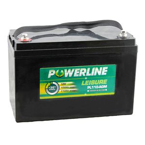PL110-AGM Powerline AGM Leisure and Marine Battery 100Ah