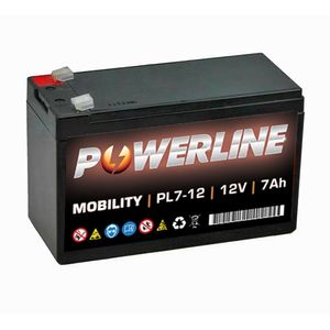 PL7-12 Powerline Mobility Battery 12V 7Ah