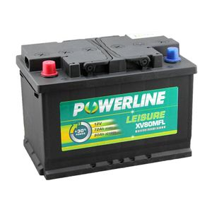 XV80MFL Powerline Leisure Battery 12V (Positive Front Left)