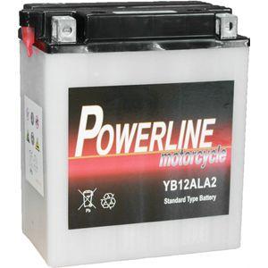 YB12AL-A2 Powerline Motorcycle Battery 12V 10Ah YB12ALA2