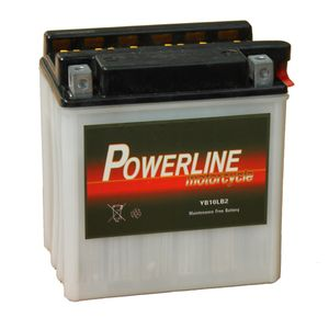 YB10L-B2 Powerline Motorcycle Battery 12V 10Ah YB10LB2