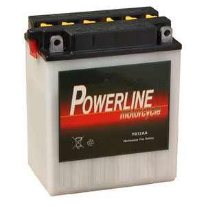 YB12A-A Powerline Motorcycle Battery 12V 10Ah YB12AA