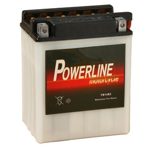 YB14-B2 Powerline Motorcycle Battery 12V 13Ah YB14B2