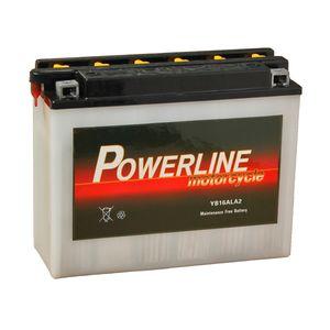 YB16AL-A2 Powerline Batterie De Moto 12V 15Ah YB16AL-A2