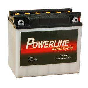 YB16-B Powerline Motorcycle Battery 12V 18Ah YB16B