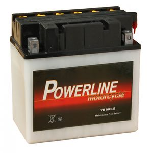 YB16CL-B Powerline Batterie De Moto 12V 19Ah YB16CLB