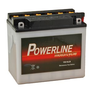 YB16L-B Powerline Motorcycle Battery 12V 18Ah YB16LB