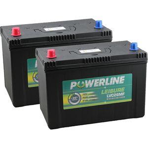 Pair of LVC26MF Powerline Leisure Battery 12V