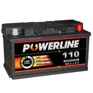 110 Powerline Car Battery 12V 80Ah