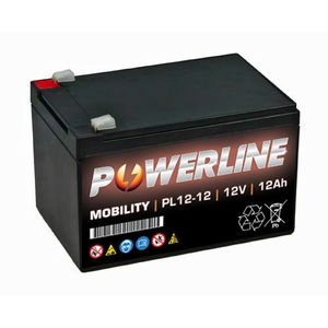 PL12-12 Powerline Mobility Battery 12V 12Ah
