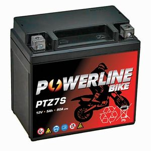 PTZ7S Powerline Motorcycle Battery 12V 5Ah