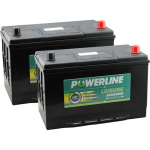 Pair of XV30HRMF Powerline Leisure Battery 12V