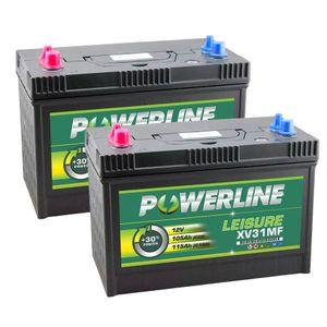 Pair of XV31MF Powerline Leisure Battery 12V