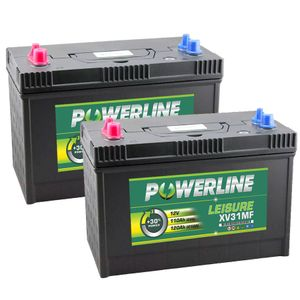 Pair of XV31MF Powerline Leisure Battery 12V