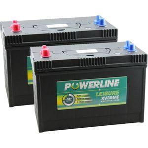 Pair of XV35MF Powerline Leisure Battery 12V