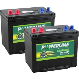 Pair of XVC24MF Powerline Leisure Battery 12V