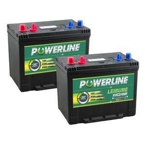 Pair of XVC24MF Powerline Leisure Battery 12V