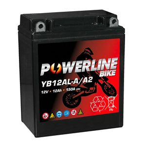 YB12AL-A AGM Powerline Motorcycle Battery 12V 12Ah YB12AL-A2