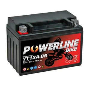 YT12A-BS Powerline Motorcycle Battery 12V