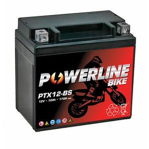 PTX12-BS Powerline Motorcycle Battery 12V 12Ah
