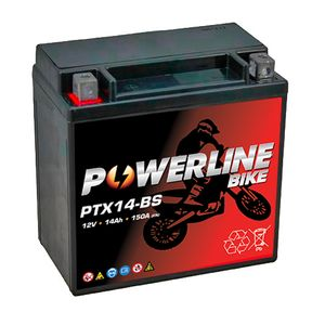 PTX14-BS Powerline Batterie De Moto 12V 14Ah
