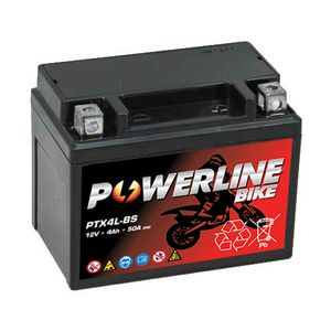PTX4L-BS Powerline Batterie De Moto 12V 4Ah