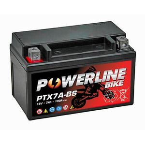 PTX7A-BS Powerline Batterie De Moto 12V 7Ah