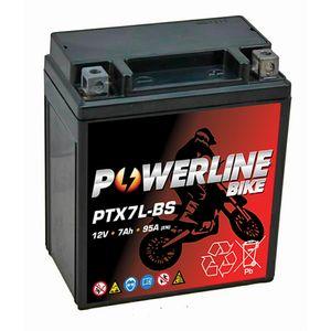 PTX7L-BS Powerline Batterie De Moto 12V 7Ah