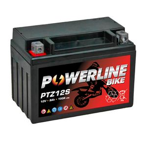 PTZ12S Powerline Motorcycle Battery 12V