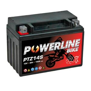 PTZ14S Powerline Batterie De Moto 12V