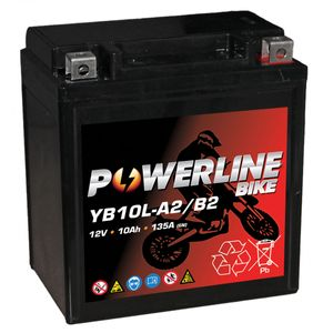 YB10L-B2 AGM Powerline Motorcycle Battery 12V 10Ah YB10LB2