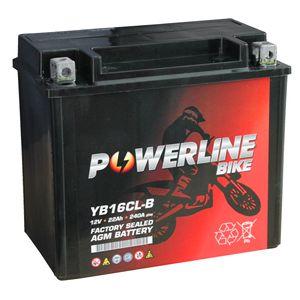 YB16CL-B AGM Powerline Quad Bike ATV Battery