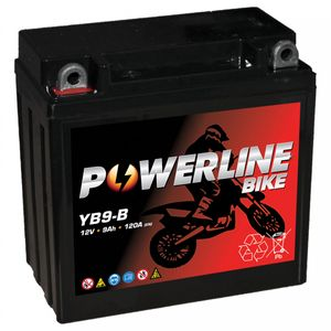 YB9-B AGM Powerline Motorcycle Battery 12V 9Ah YB9BAGM