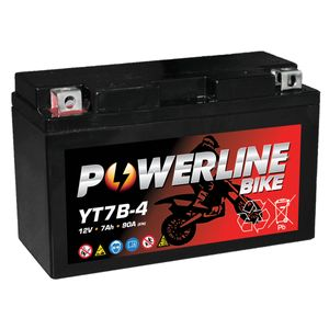 YT7B-4 Powerline Motorcycle Battery 12V 7Ah YT7B4