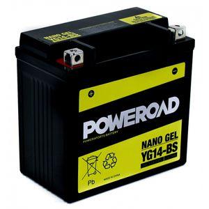 YG14-BS GEL Poweroad Motorcycle Battery
