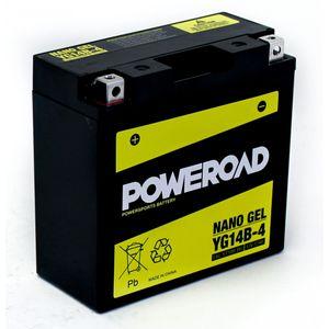 YG14B-4 GEL Poweroad Motorcycle Battery