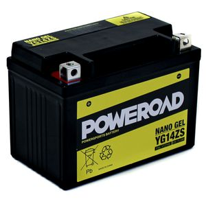 YG14ZS GEL Poweroad Motorcycle Battery