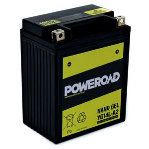 YG14L-A2 GEL Poweroad Motorcycle Battery