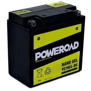 YG19CL-BS GEL Poweroad Motorcycle Battery
